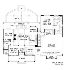 House Plan 1422 has