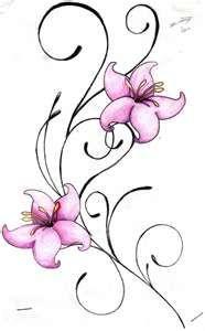 Swirl & Flower Tattoo