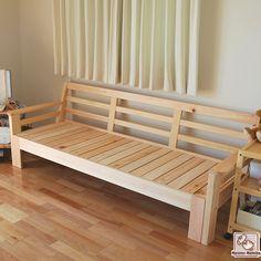 ひのきソファーベッド 伸縮式