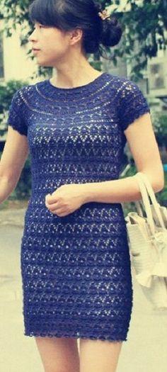 Схема ажурного платья
