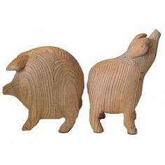 Roost Pig Bookends.  These are absolutely adorable and I love everything about them!  They are wooden and are a wonderful accent piece!