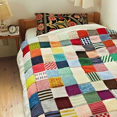 Patchwork Knitted Blanket
