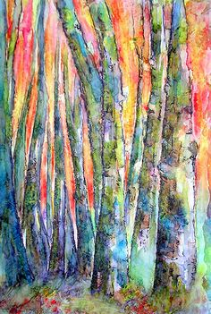AUTUMN MORNING GLOW                I painted this one today with Watercolors and Ink on Textured paper(with Gesso)...another fun experiment...:) Again using the Elegant Writer Pen and Micron.