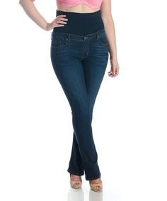 Look what I found on #zulily! Dark Blue Bootcut Jeans - Plus by Tummy Trimmer Denim #zulilyfinds