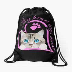 Süßes Baby Kätzchen, Katze. Schönes Design für Katzenbesitzer, Katzen Freunde und Katzen Liebhaber. Tolles Geschenk für Katzenbesitzer. Mein Herz sagt miau.#katze #Kätzchen #katzenliebhaber #cat #cute Graphic T Shirts, Iphone Case Covers, Drawstring Backpack, Backpacks, Bags, Gifts For Cats, Great Gifts, Baby Kitty, Nice Designs