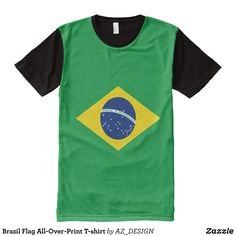 Brazil Flag All-Over-Print T-shirt - Visually Stunning Graphic T-Shirts By Talented Fashion Designers - #shirts #tshirts #print #mensfashion #apparel #shopping #bargain #sale #outfit #stylish #cool #graphicdesign #trendy #fashion #design #fashiondesign #designer #fashiondesigner #style