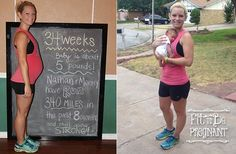 Fit Pregnancy Profile-Chrissy stayed fit during her pregnancy by running, even placing third in her age group at a 10K in her seventh month! Read this inspiring story and how she managed to keep going on Fit To Be Pregnant!