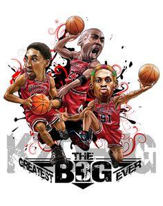 Chicago Bulls BIG 3 on Behance