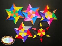 Origami Stella Della Mamma - Mother's Star Tutorial - Design by Francesco Mancini - YouTube