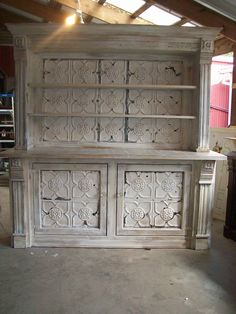 From Green Oaks Antiques in Rochester, IN, they offer amazing upcycling furniture … - Upcycled Furniture Ideas Paint Furniture, Furniture Projects, Furniture Makeover, Wood Projects, Tin Tiles, Tin Ceiling Tiles, Repurposed Furniture, Shabby Chic Furniture, Furniture Restoration