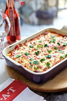 Trust us, meat lasagna doesn't even come close to the deliciousness of this cheesy Christmas dinner entrée. Get the recipe at Marla Meridith.