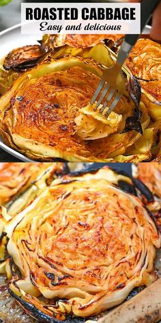These Roasted Cabbage Steaks are so easy and delicious. Made with only six ingredients, this simple recipe makes a flavorful snack or side that you're going to just love! FOLLOW Eat Something Vegan, so you won't miss my new pins! If you cook any of my recipes, SHARE your photos with me, I ALWAYS check! #vegan #vegetarian #plantbased #healthyrecipe #cabbage #dinner #lunch #keto #lowcarb Tasty Vegetarian Recipes, Veggie Recipes, Low Carb Recipes, Cooking Recipes, Healthy Recipes, Vegan Vegetarian, Grilled Vegan Recipes, Vegetarian Cabbage Recipes, Vegetarian Roast Dinner