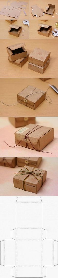 DIY : Gift Box from Cardboard--love the closure!
