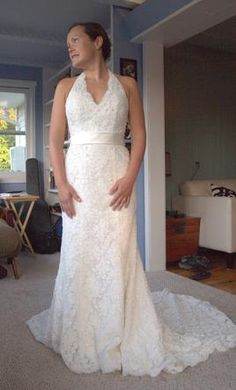 $300 New With Tags David's Bridal Wedding Dress T9512, Size 4  | Get a designer gown for (much!) less on PreOwnedWeddingDresses.com