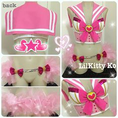 MINI SAILOR MOON Bustier and Tutu skirt  Made to by lilkittyko, $225.00