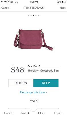 Stitch fix fall 2016 style card Octavia Brooklyn crossbody