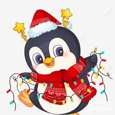Happy Penguin, Penguin Love, Merry Christmas Quotes, Happy Merry Christmas, Christmas Lanterns, Gold Christmas Tree, Christmas Background, Red Background, Happy New Year Fireworks