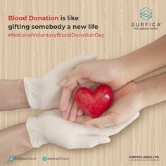 Blood Donation is like gifting somebody with a new life National Voluntary Blood Donation Day..! #Surfica #Surficalam #Laminates #laminate #laminatescollection #LaminatesDesign #BestLaminates #LuxuryLaminates #LaminateCollection #LaminateSheet #NationalVoluntaryBloodDonationDay #VoluntaryBloodDonationDay #NationalBloodDonationDay #BloodDonation #BloodDonation2020 Blood Donation Day, National Days, Group Of Companies, New Life, Gifts, Presents, Favors, Gift