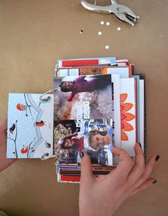 DIY Simple Book from Old Holiday Cards