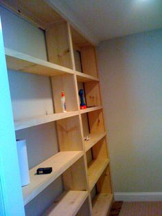 DIY Built-in Bookcase - home office redesign.