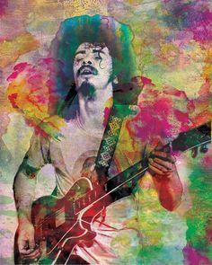 Santana Original Painting Art Print by Ryan, Nevada