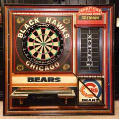 Chicago sports dartboard