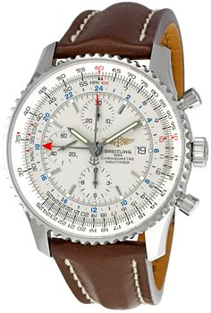 Breitling Men's A2432212-G571BRLD Navitimer World Silver Dial Watch