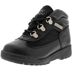 Timberland - Waterproof Field Hiking Boot (Toddler) - Black Smooth