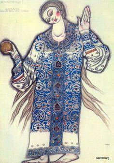 Leon Bakst Firebird Princess Costume Russian Ballet Dance Illustration Poster Print. $11.49, via Etsy.