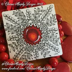Gems by www.facebook.com/ChrissieMurphyDesigns #zentangle