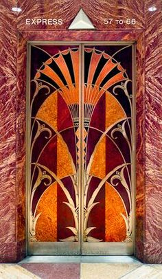 The Chrysler Building elevator door