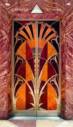 The Chrysler Building elevator door