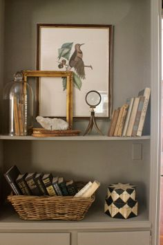 bookcase styling by  Sherry Hart