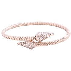 Rose Gold Pyramid Cuff, Le Chic