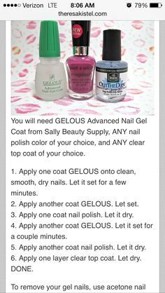 Gel nails at home!! Doing them like this later!!