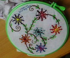 Hand Embroidery Designs # 146 - Bullion Lazy daisy design
