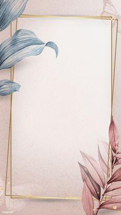 Golden frame on leafy background mobile phone wallpaper illustration   premium image by rawpixel.com / Adj Gold Wallpaper Background, Poster Background Design, Framed Wallpaper, Phone Wallpaper Images, Flower Phone Wallpaper, Cute Wallpaper Backgrounds, Flower Backgrounds, Mobile Wallpaper, Textured Background