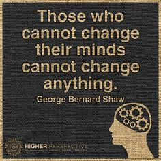 Changing our mind ...