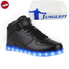 (Present:kleines Handtuch)Silber EU 35, Sportschuhe LED-Licht Wechseln aufladen Mode Damen Freizeitschuhe Herren für Farbe und Sneaker Kinder USB 7 Leuchtend Outdoorschuhe L