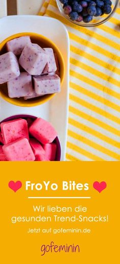 Low calories, lots of vitamins: FroYo Bites are the new DIY food trend - Snacks - Smoothie Recipes Healthy Snacks For Kids, Healthy Sweets, Healthy Dessert Recipes, Yummy Snacks, Baby Food Recipes, Snack Recipes, Yummy Food, Healthy Children, Healthy Food