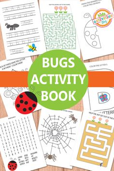 Bugs Activity Sheets Free Kids Printable Bugs Activity Sheets // Cats with bug-themed activities Preschool Activity Sheets, Insect Activities, Printable Activities For Kids, Kindergarten Activities, Free Printables, Preschool Printables, Preschool Ideas, Fun Learning, Learning Activities
