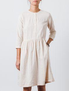 Blush Button Dress