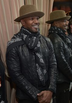 Jamie Foxx Photos - Jamie Foxx attends THE HATEFUL EIGHT Celebration With Quentin Tarantino And Filmmakers at Sunset Tower Hotel on January 2016 in West Hollywood, California. - 'The Hateful Eight' Celebration With Quentin Tarantino and Filmmakers Hollywood California, West Hollywood, Cowboy Chic, Cowboy Hats, Hats For Men, Women Hats, Mens Fashion, 1950s Fashion, Vintage Fashion