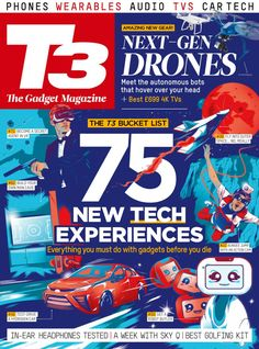 Free Download T3 Magazine #Magazine - May 2016. THE T3 BUCKET LIST - NEW TECH EXPERIENCES - Everything you must do with gadgets before you die    AMAZING NEW GEAR! - NEXT-GEN DRONES - Meet the autonomous bots that hover over your head + Best £699 4K TVs    FREE B #T3Magazine #FutureT3Magazine #Future #T3FutureGroup #T3Future #T