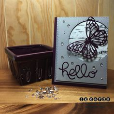 Stampin' Up!, Blackberry Birch Butterfly Hello, Adventure Bound DSP Stack, Butterfly Thinlits, Hello You Thinlits, Simon Says Stamp Stitched Rectangles and Circles, Simon Says Stamp Moonshine Sequins