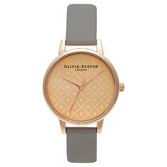 Buy Olivia Burton Women's Dot Dial Leather Strap Watch Online at johnlewis.com