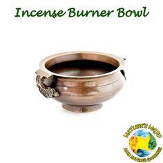 """Tibetan Bronze Incense Burner Bowl 4"""""""