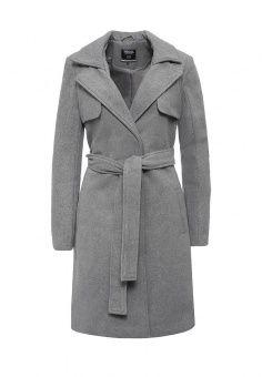 Пальто, Troll, цвет: серый. Артикул: TR798EWKVA80. Женская одежда / Верхняя одежда