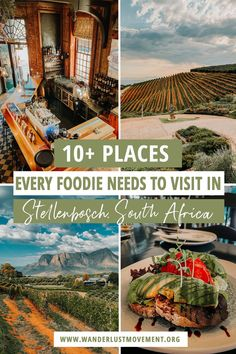 Stellenbosch, South Africa is one of the top foodie destinations in the world. Home to award-winning wine farms and restaurants, you can feast on one-of-a-kind gourmet experiences with the spectacular Hottentots Holland mountain range as a backdrop. Here are the best things to do in Stellenbosch, South Africa for foodies! | South Africa travel tips | Cape Town Travel | #southafrica #capetown #southafricatravel #stellenbosch #foodietravel