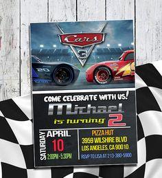 Disney Cars 3 invitación invitación de coches 3 Disney Cars